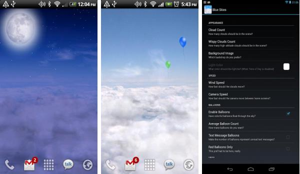 скачать Blue Skies Live Wallpaper для android