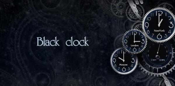 Black Clock Live Wallpaper android