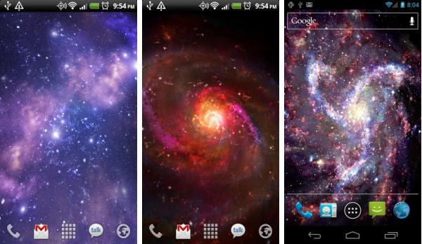 скачать Galactic Core Live Wallpaper для android