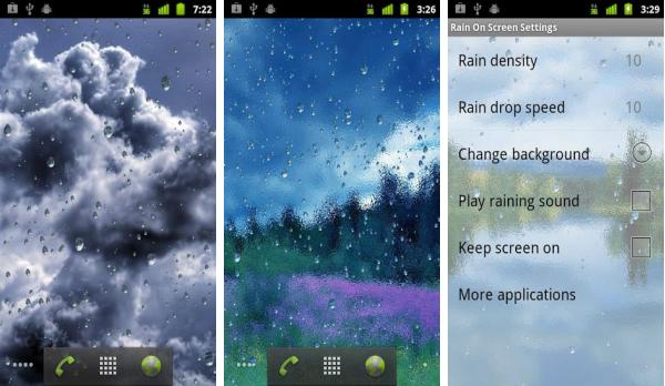 скачать Rain On Screen для android
