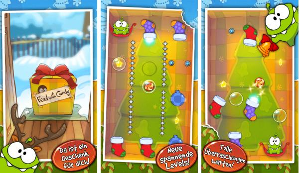скачать Cut the Rope Holiday Gift для android