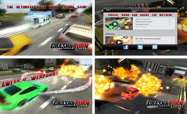 скачать CRASH AND BURN RACING для android