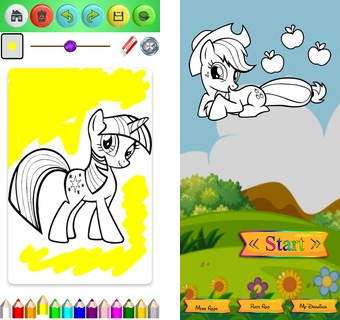 Скачать  Coloring Book for Pony 1.1 на андроид