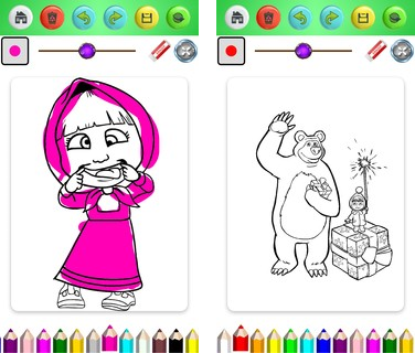 Скачать  Coloring Book of Little Mashaa 1.0 на андроид