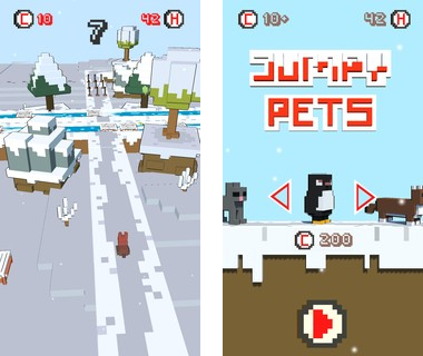 Скачать  Jumpy Pets Snow 1.2 на андроид